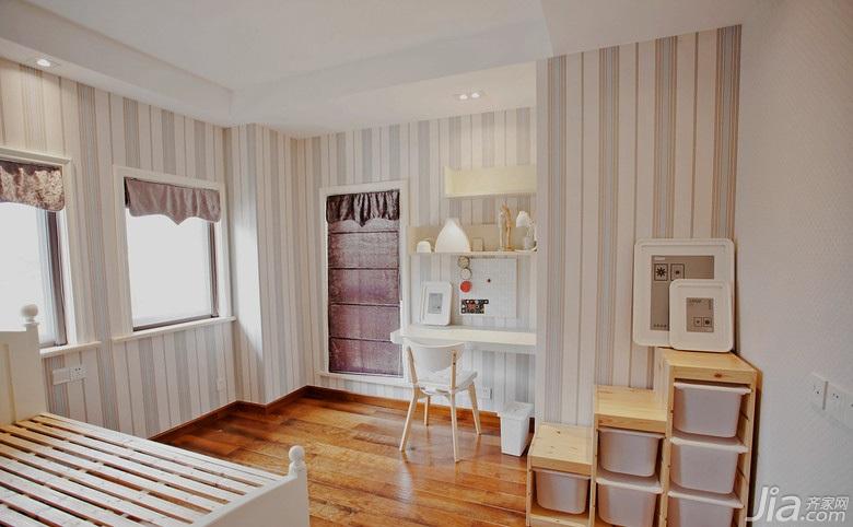 风格卧室效果图儿童房间效果图儿童房高低床效果图