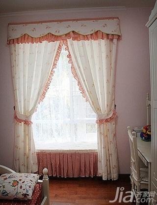 田园风格别墅80平米儿童房窗帘效果图