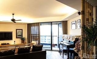 混搭风格四房140平米以上阳台窗帘效果图