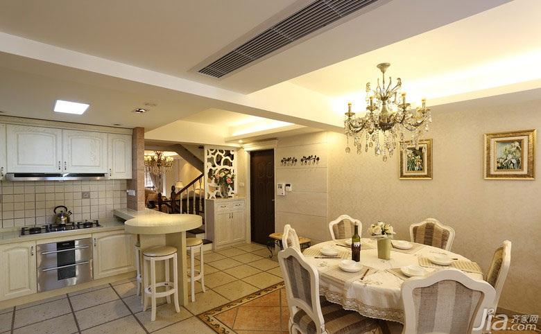 欧式风格别墅140平米以上餐厅装修效果图