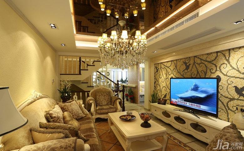 0 复式20万以上140平米以上客厅电视背景墙电视柜效果图 复式楼装修图片
