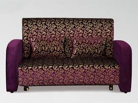 高贵奢华 紫色金花布艺沙发