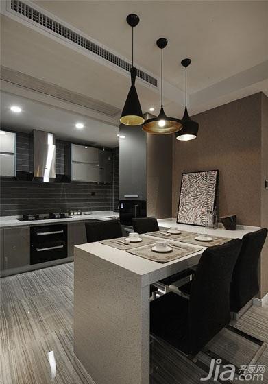 现代简约风格二居室80平米餐厅橱柜效果图
