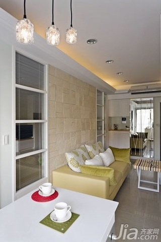 欧式风格一居室5-10万60平米客厅背景墙沙发新房平面图