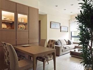 简约风格二居室5-10万60平米客厅沙发新房家装图