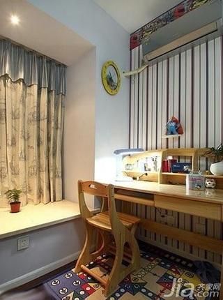 简约风格四房10-15万100平米书房飘窗壁纸新房家居图片