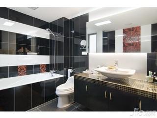 中式风格四房简洁10-15万90平米卫生间洗手台新房家装图