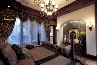 地中海风格别墅富裕型卧室卧室背景墙效果图