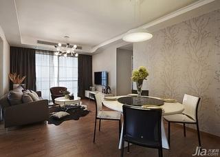 简约风格三居室90平米婚房家装图