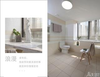 三米设计简约风格简洁富裕型140平米以上卫生间吊顶装修效果图