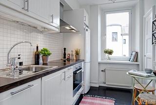 小户型简洁白色厨房洗手台效果图