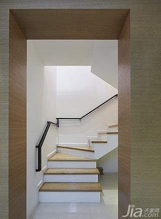 简约风格跃层白色20万以上楼梯设计图