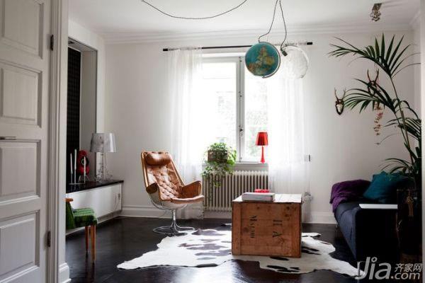 北欧风格公寓时尚60平米客厅沙发效果图