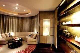 简欧风格四房大气白色富裕型客厅吊顶沙发效果图