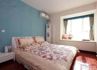 简约风格二居室富裕型90平米卧室卧室背景墙床婚房家装图片