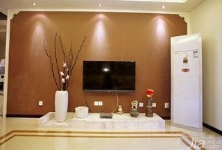 简约风格一居室富裕型90平米客厅电视背景墙电视柜效果图
