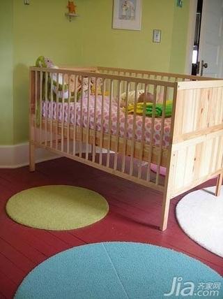 简约风格小户型经济型儿童房婴儿床图片