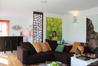 简约风格别墅简洁富裕型客厅沙发背景墙沙发效果图