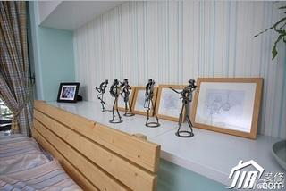 三米设计简约风格复式富裕型卧室卧室背景墙设计图