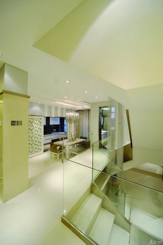 简约风格别墅冷色调豪华型140平米以上客厅过道装修效果图