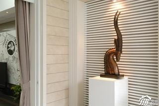 欧式风格二居室古典白色富裕型效果图