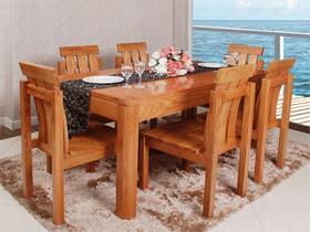 红橡木简约实用餐椅