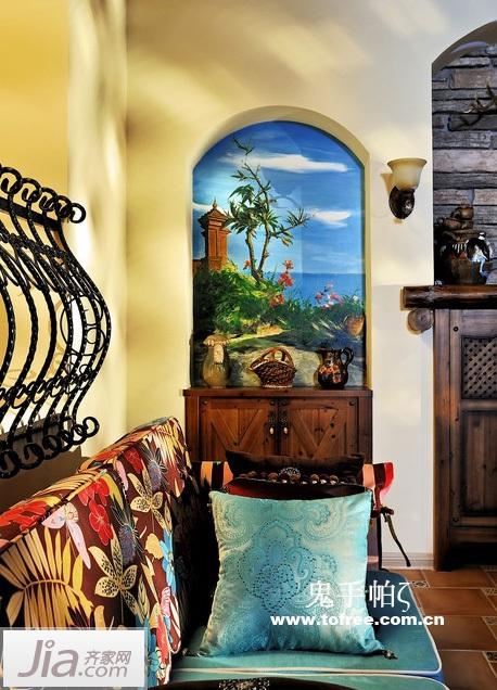 美式田园风 160平底层公寓装出别墅范儿图片