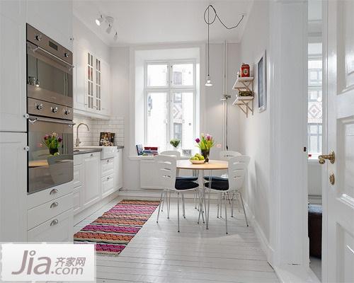 小清新不油腻 12款北欧风格厨房装修效果图图片