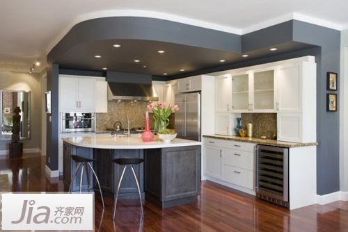 餐厨完美结合 11款中户型开放式厨房效果图(6)图片