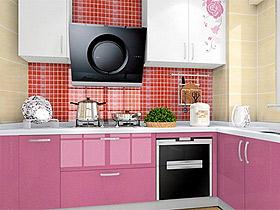 現代簡約風紫羅蘭閃銀高檔整體櫥柜