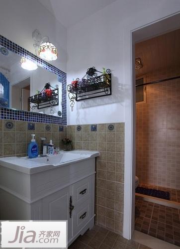 卫生间做了干湿分离.高清图片