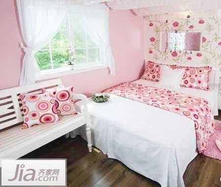 恬静可爱的粉嫩小窝 现代简约风格浪漫公主房(全文)