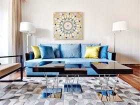 52平优雅沁蓝小公寓 奢享视觉系小户型