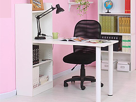 宜家風電腦桌連體書桌柜