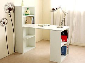宜家風電腦桌臺式書桌書柜自由組合桌