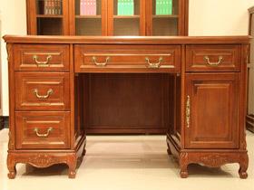 实木欧式实用办公书桌