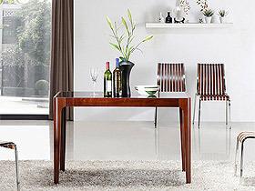 简约设计 北欧风情弯曲木实木餐桌