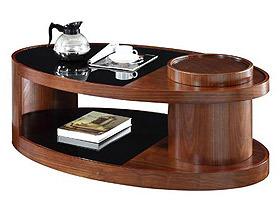 个性弯曲木实木咖啡桌