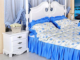 欧式卧室象牙白床边柜
