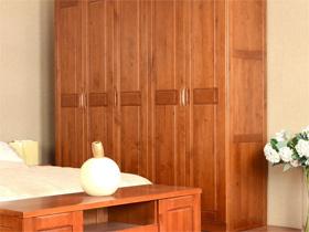 零甲醛环保2米全实木五门衣柜