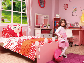 女孩的粉色夢幻 愛麗絲1.5m兒童床