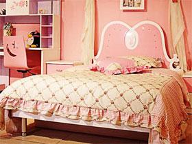 烤漆兒童床 扮靚粉色公主兒童房
