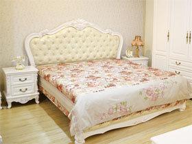 韩式唯美 奢华丽宫玫瑰双人床