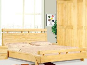 双人床1.8米新西兰松木