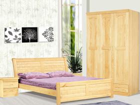 新西兰松木206双人床1.5米 现代家具