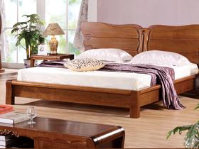 1.8米雙人床 單人床胡桃木