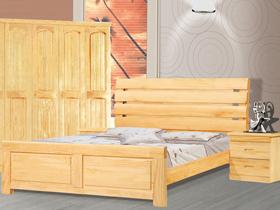 松木实木儿童1.2米床 卧室环保家具