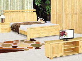 新西兰松木保全实木1.8米双人床