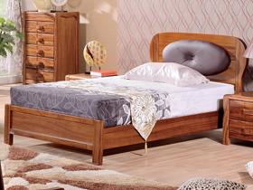 乌金木实木儿童床1.2米小床