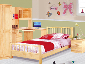 新西兰松木1.2米儿童床